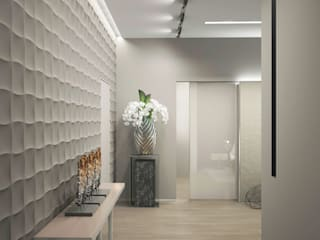 Corridor & hallway by Дизайн - студия Пейковых, Minimalist