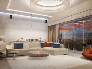 Living room by Дизайн - студия Пейковых, Eclectic