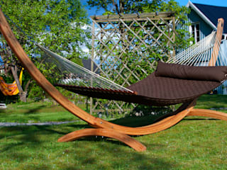 Dark Chocolate Brown Double Padded Hammock with Pillow:   by Emilyhannah Ltd