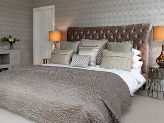 Walton Grange Indigo Acre INTERIORS Ltd BedroomBeds & headboards