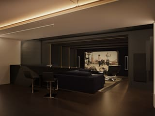 Media room by Дизайн - студия Пейковых, Minimalist