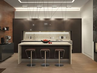 Kitchen by Дизайн - студия Пейковых, Minimalist