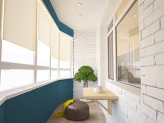 mysoul Minimalist balcony, veranda & terrace