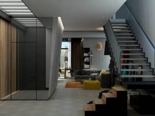 Living room by Дизайн - студия Пейковых, Industrial