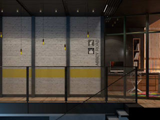 Corridor & hallway by Дизайн - студия Пейковых, Industrial
