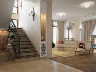 Коттедж в Форосе Коридор, прихожая и лестница в классическом стиле от Дизайн - студия Пейковых Классический