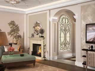 Коттедж в Любимовке Гостиные в эклектичном стиле от Дизайн - студия Пейковых Эклектичный