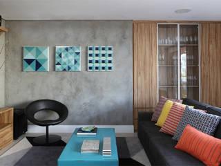 Cobertura - Pinheiros: Salas multimídia  por MANDRIL ARQUITETURA E INTERIORES,Moderno