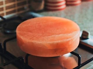 Himalayan Salt Block - Round:   by Salthouse & Peppermongers