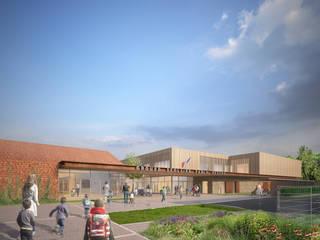 Pablo Neruda Elementary School de Sebastien Rigaill 3D Visualiser Moderno