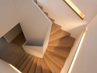 Wohnüberbauung Rietacher, Küsnacht, Schweiz Moderner Flur, Diele & Treppenhaus von mpp architekten ag Modern