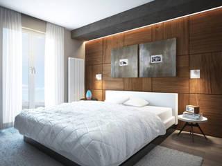 Quartos modernos por Beniamino Faliti Architetto