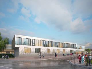 Dunoyer de Segonzac Elementary School de Sebastien Rigaill 3D Visualiser Moderno