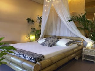 Bamboe bed bandung: tropische Slaapkamer door Bamboe design