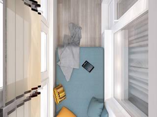 Яркие мечты Балкон в скандинавском стиле от RogovStudio Скандинавский