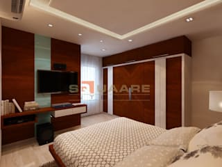 Residence at Khar. Conpect Art.:  Bedroom by Squaare Interior
