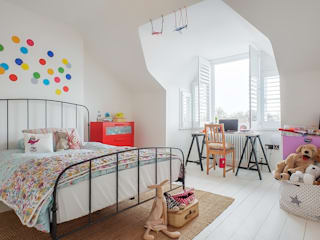 Full House Renovation with Crittall Extension, London:  Nursery/kid's room by HollandGreen