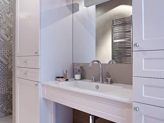 Kawalerka 38m Nowoczesna łazienka od BBHome Design Nowoczesny