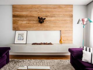 Casa 2 Arquitetos 现代客厅設計點子、靈感 & 圖片