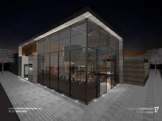 Restaurantes de estilo  por Marcella Peixoto Arquitetura Design