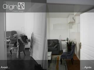 """Aménagement séjour, style """"déstructuré léger"""" par Origin Interior Design"""