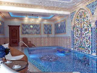 Интерьер бассейна Бассейн в азиатском стиле от Architoria 3D Азиатский