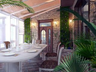 Mediterranean style conservatory by Architoria 3D Mediterranean