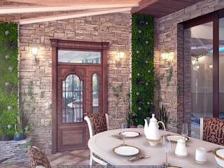 Tropical style conservatory by Architoria 3D Tropical