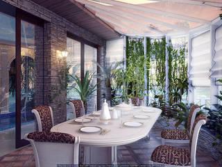 Зимний сад Зимний сад в средиземноморском стиле от Architoria 3D Средиземноморский