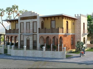 Фасады Дома в азиатском стиле от Architoria 3D Азиатский