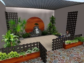Rustic style gardens by Zen Ambient Rustic