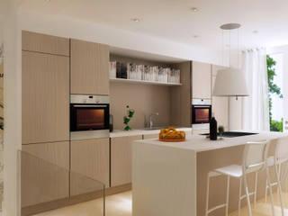 Progettazione su più livelli Cucina moderna di scalvini luca design Moderno