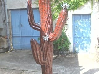 sculpture métallique actus saguaro:  de style  par bernard mages