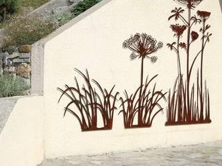 décor mural métallique: ombelles et graminées:  de style  par bernard mages