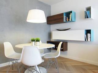 Mieszkanie na wynajem, Poznań Nowoczesna jadalnia od Studio Nomo Nowoczesny