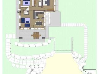 Casa ZG - Pianta piano terra:  in stile  di Studio Forza Ceccato architetti associati