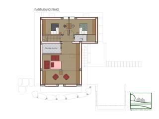 Casa ZG - Pianta piano primo:  in stile  di Studio Forza Ceccato architetti associati