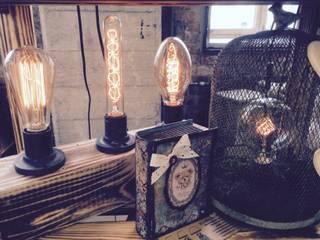 "Настольная лампа ""ECO COUNTRY triple"": Гостиная в . Автор – Eco Shining Home"