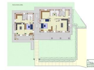 Casa FP - Pianta piano terra:  in stile  di Studio Forza Ceccato architetti associati