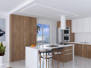Cuisine minimaliste par TOV.ARQ Estudio de Arquitectura y Urbanismo Minimaliste