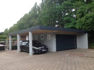 Fertiggarage in der Holzständerbauweise bzw. Holzrahmenbauweise:   von systembox Garagen GmbH