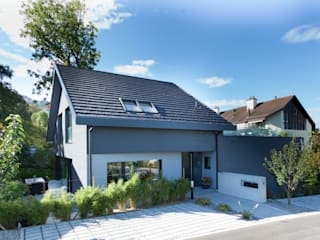 Eingang Wohnhaus: moderne Häuser von von Mann Architektur GmbH