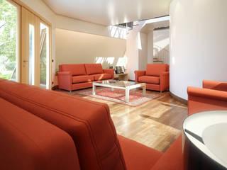 Tyronset house - soggiorno 02: Soggiorno in stile  di Fisheye Studio di Paolo Mazzoccato