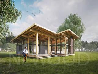 NEWOOD - Современные деревянные дома Casas de estilo escandinavo