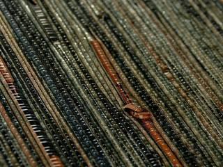 Grastapete mit dem besonderen Knoten: ausgefallene Arbeitszimmer von Tapetenmarkt + Handelsagentur