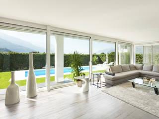 Dekton Living Room - Makai: Soggiorno in stile in stile Minimalista di Gruppo Cosentino