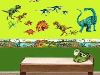 Bordüre & Wandtattoo - Urzeit Dinos: moderne Kinderzimmer von Mein Bordürenladen