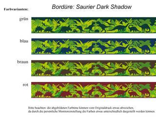 Bordüre - Saurier Dark Shadow: moderne Kinderzimmer von Mein Bordürenladen