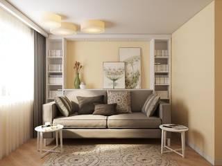 Квартира на ул. Краснобогатырская Гостиные в эклектичном стиле от Tina Gurevich Эклектичный
