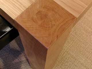 Oak Dining Table:   by Miranda Salmon